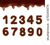 chocolate numbers on white... | Shutterstock .eps vector #670245475