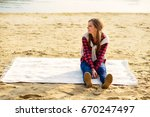 stylish young couple in shirts... | Shutterstock . vector #670247497