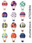 cartoon hot air balloons | Shutterstock .eps vector #67024846