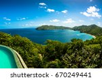 Small photo of The view of admiralty bay on Bequia island in the Grenadines