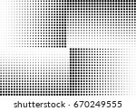 abstract halftone dotted... | Shutterstock .eps vector #670249555