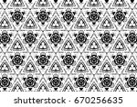 ornament with elements of black ... | Shutterstock . vector #670256635