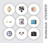 flat icon oneday set of... | Shutterstock .eps vector #670258555