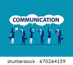 group people speaking together. ... | Shutterstock .eps vector #670264159
