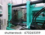 injection moulding machine used ... | Shutterstock . vector #670265359