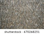 thatched or atap roof  | Shutterstock . vector #670268251