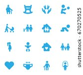 set of 16 people icons set... | Shutterstock .eps vector #670270525