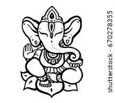hindu elephant. lord ganesha.... | Shutterstock .eps vector #670278355