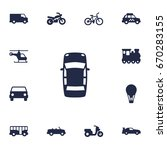 set of 13 shipping icons set... | Shutterstock .eps vector #670283155
