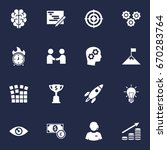 set of 16 business icons set... | Shutterstock .eps vector #670283764