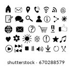 set of  hand drawn icons for... | Shutterstock .eps vector #670288579