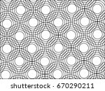 line circle pattern in modern... | Shutterstock .eps vector #670290211