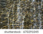 wall brick waterfall | Shutterstock . vector #670291045