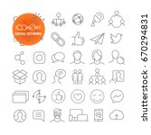 outline icon set. web and... | Shutterstock .eps vector #670294831