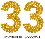 Arabic Numeral 33  Thirty Thre...