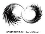 abstract retro vector dots... | Shutterstock .eps vector #6703012