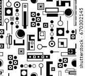 geometric vector computer... | Shutterstock .eps vector #670302145