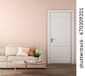 interior design of living area... | Shutterstock . vector #670309201