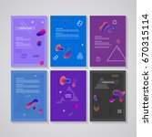 brochure flyer layouts with... | Shutterstock .eps vector #670315114