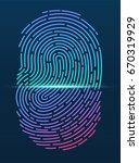 fingerprint. id app icon.... | Shutterstock .eps vector #670319929