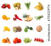 fresh fruits and vegetables... | Shutterstock . vector #670322974