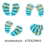 slippers for the beach  slates  ... | Shutterstock .eps vector #670329841