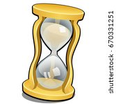 vintage hourglass isolated on a ...   Shutterstock .eps vector #670331251