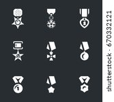 Vector Set Of Military Award...
