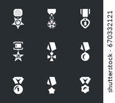 Vector Set Of Military Award...