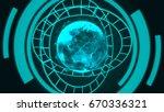technology concept abstract... | Shutterstock . vector #670336321