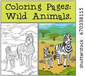 coloring pages  wild animals....   Shutterstock .eps vector #670338115