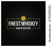 whiskey logo design background | Shutterstock .eps vector #670339831