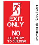 emergency exit  fire... | Shutterstock .eps vector #670343305