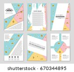 abstract vector layout... | Shutterstock .eps vector #670344895