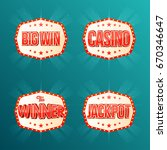 casino  jackpot  the winner ... | Shutterstock .eps vector #670346647