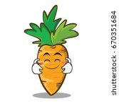 cute smile carrot character... | Shutterstock .eps vector #670351684