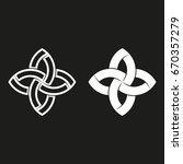 sacred geometric logo  black... | Shutterstock .eps vector #670357279