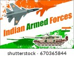 indian armed forces set poster... | Shutterstock .eps vector #670365844