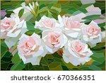 stained glass roses | Shutterstock .eps vector #670366351