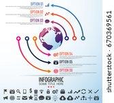 world map infographics design... | Shutterstock .eps vector #670369561