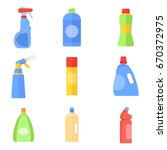 cleaning products tools and... | Shutterstock .eps vector #670372975