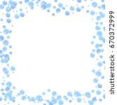 white frame with bubbles soap.... | Shutterstock .eps vector #670372999