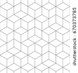 Pattern geometric texture. Seamless vector background hexaganal cube elements. Modern black and white simple grid. | Shutterstock vector #670373785