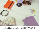 travel concept. globe  money...   Shutterstock . vector #670376611