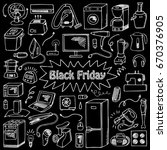 black friday household... | Shutterstock .eps vector #670376905