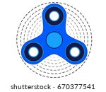 icon fidget spinner | Shutterstock .eps vector #670377541