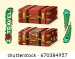vector cartoon objects...   Shutterstock .eps vector #670384957