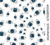 blue eye. vector seamless...   Shutterstock .eps vector #670389559