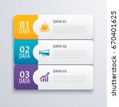 3 infographic tab index banner... | Shutterstock .eps vector #670401625
