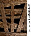 wooden planks on black. | Shutterstock . vector #670404601